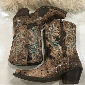 Ariat Distressed Cowgirl Boots w/Zipper EUC